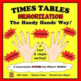 TIMES TABLES MEMORIZATION - The Handy Hands Way! (215 pages)