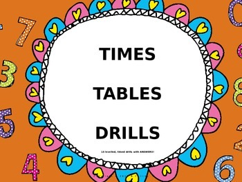TIMES TABLES MULTIPLICATION DRILLS