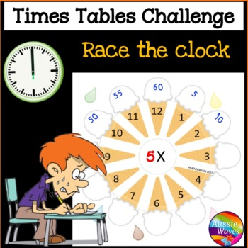 TIMES TABLES Math Center Activity RACE THE CLOCK Challenge and Practice Tasks