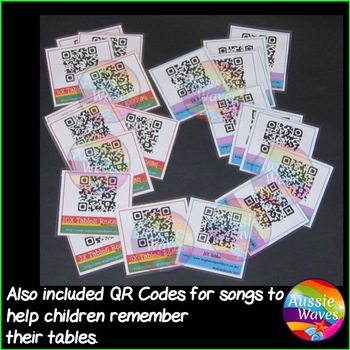 TIMES TABLES Math Center Skip Counting Activity PLUS QR Codes for Tables Songs