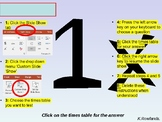 TIMES TABLES RESOURCES 1-12, RANDOM OR SPECIFIC TESTING ON