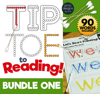 TIP TOE to Reading - Painting Sight Words Activity - BUNDLE ONE