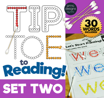 TIP TOE to Reading - Painting Sight Words Activity - SET TWO