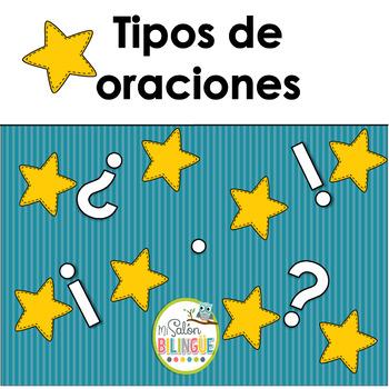 TIPOS DE ORACIONES - [TYPES OF SENTENCES IN SPANISH]