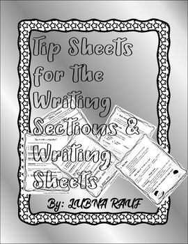 TIPS FOR WRITING SECTIONS & SOME WRITING SHEETS