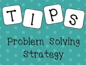 TIPS Problem Solving Strategy Posters