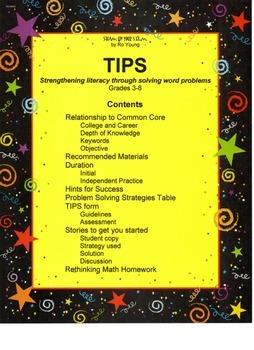 Math - TIPS: Strengthening literacy through solving word problems