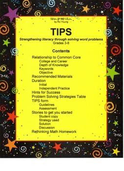 TIPS: Strengthening literacy through solving word problems