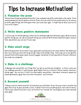TIPS TO INCREASE MOTIVATION