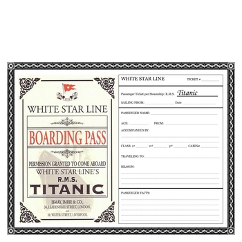 TITANIC Boarding Pass Activity/FREE Facebook File in Preview by