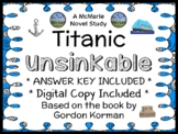 TITANIC Book One: Unsinkable (Gordon Korman) Novel Study / Comprehension