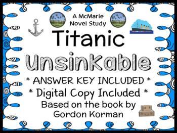 TITANIC Book One: Unsinkable (Gordon Korman) Novel Study / Comprehension