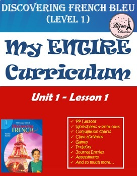 Discovering French Bleu Unit 1 Lesson 1 ENTIRE Chapter Cur