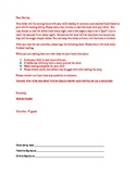 title 1, take home reading log with letter to parents
