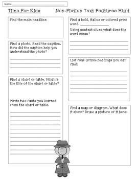 Time For Kids- Nonfiction Text Features
