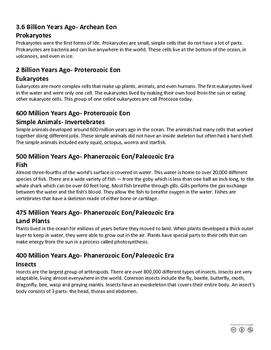 Timeline of Life PDF