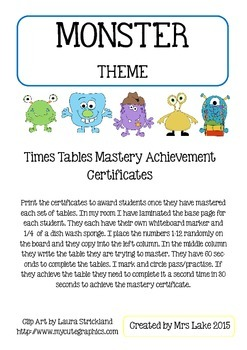 Times Tables Challenge + Certificates