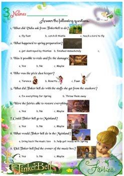TInkerbell Movie 2008 worksheets