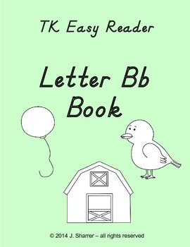 TK Easy Alphabet Reader -- Letter Bb