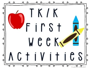 TK/K Beginning of Year Activity Packet