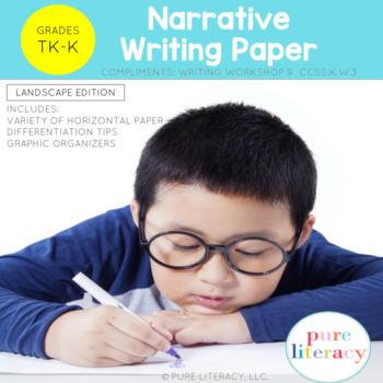 TK-K Narrative Writing Paper Landscape Format Edition