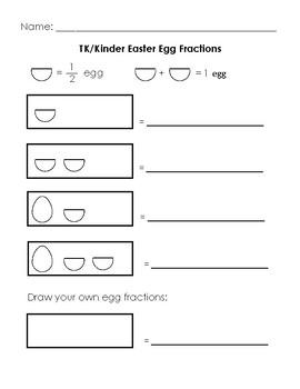 TK Kinder Easter Egg Fractions Handout #1