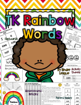 TK Rainbow Words by Kinder League