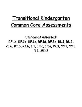 TK and Kindergarten Assessments