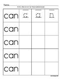 TK and Kindergarten High Frequency Word Practice