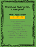 TK and Kindergarten Math Assessment
