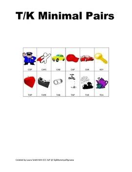 T/K minimal pairs