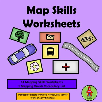 Tk Or Kindergarten Map Skills Worksheets By Ms Brandys Schoolhouse