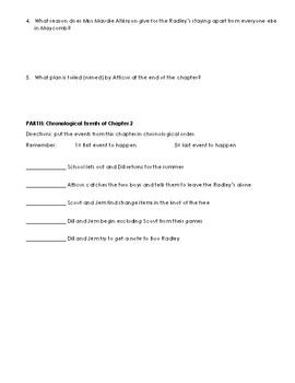 TKAM Chapters 4-5 Summary Homework