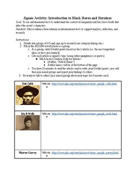 TKAM To Kill a Mockingbird Jigsaw Historical Context Jim Crow Intro Segregation