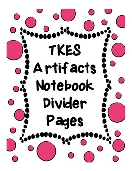 TKES Divider Pages