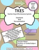 TKES Georgia Teacher Evaluation Binder with Standards & Rubrics - Chocolate Dots