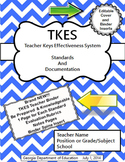 TKES Georgia Teacher Evaluation Binder with Standards and Rubrics - Blue