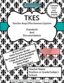 TKES Georgia Teacher Evaluation Binder with Standards and Rubrics - Aqua