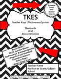 TKES Georgia Teacher Evaluation Binder with Standards and Rubrics - Black