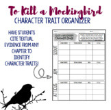 TKaM Character Trait Organizer