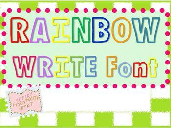 TL Rainbow Write Font