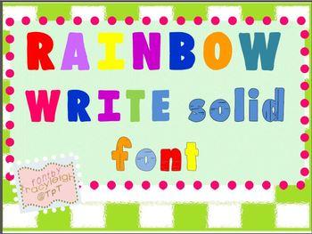 TL Rainow Write Solid Font