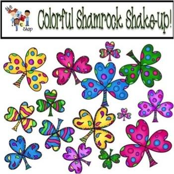 TLC Clip Art - Colorful Shamrock Shake-up!