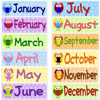 TLC Clip Art - Monthly Owls
