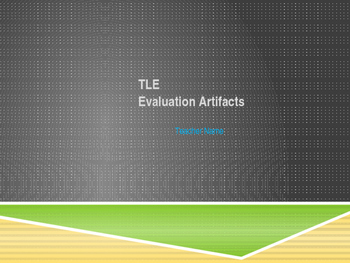 TLE Evaluation Artifact PPT for a Collaborative Conference