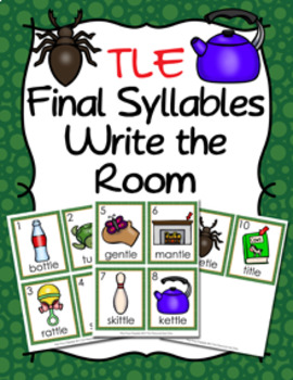 TLE Final Stable Syllable Words Write the Room