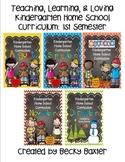 TLL Kindergarten Home School Curriculum Aug.- Dec. (1st Semester)