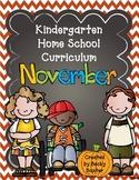 TLL Kindergarten Home School Curriculum- November