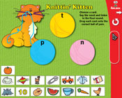 Final Consonants: Knittin' Kitten (Grade 1) [Interactive Promethean Version]
