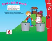 Short Vowels: Fetch a Pail of Vowels (Grade 1) [Interactive Promethean Version]